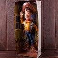 Figura de acción de juguete historia Woody el Sheriff hablando de PVC  colección modelo de juguete fc48f942b23