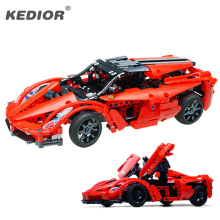 RC Car Model Building Block HighSpeed Radio Remote Controlled Cars Machine 3D Construction Brick Toys Car With Battery