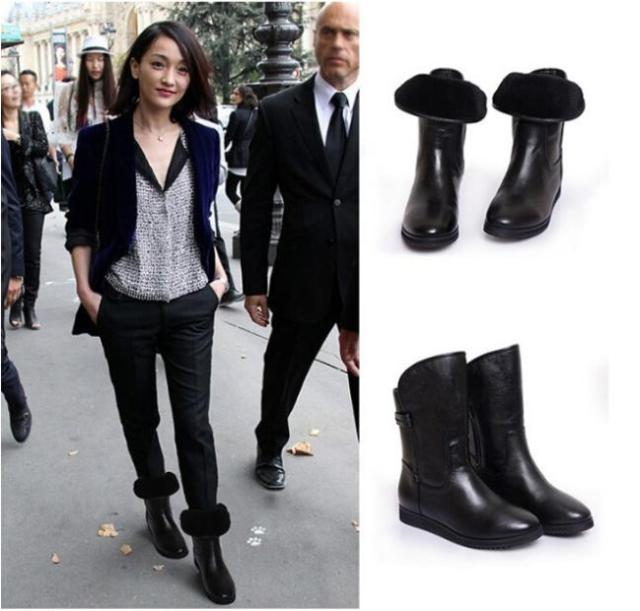 Aliexpress.com : Buy Fashion Snow Boots 2015 Winter Ankle Leather ...