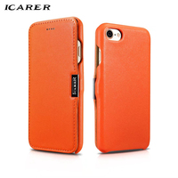 ICarer For IPhone 7 Case Luxury Color Brand Accessory Magnetic Genuine Leather Hard Armor Flip Protective