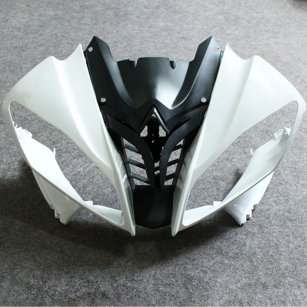 Motorcycle Unpainted Front Upper Nose Fairing Cowl For Yamaha YZF R6 YZFR6 2008 2009 YZF-R6 YZF600 R600 08 09 Top Fairings Case unpainted front nose top fairing for triumph daytona 675 2009 2012 10 11 upper cowl