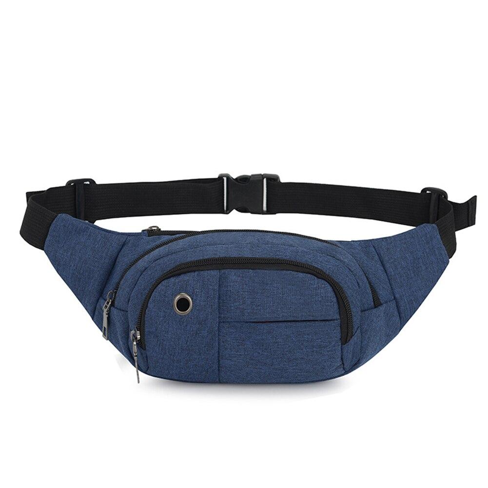 New Fanny Pack Men Black Waterproof Waist Bags for Men Fashion Cigarette Phone Case Money  Travel Belt Bag Security Pouch  Purse
