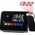 Tempo Calendário Projection Alarm Clock Digital LED Temperatura de Exibição sem fio Projetor/Estação Meteorológica com a Umidade Interna