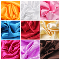 150cm Width Satin Fabric Black White Red Blue For Sewing Dresses Wedding Skirt Necktie Costumes Lining