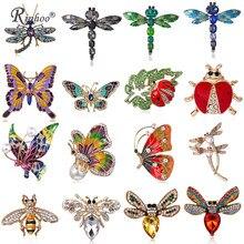 Rinhoo Mode Libelle Schmetterling Honigbiene Kristall Emaille Insekt Biene Brosche Pin Kostüm Schmuck Broschen Pins Für Frauen Mädchen