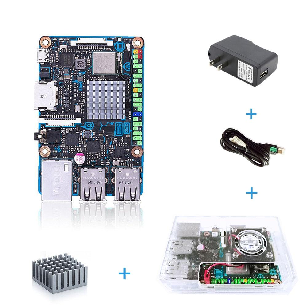 ASUS SBC Tinker junta S RK3288 SoC 1,8 GHz Quad Core CPU, 600 MHz Mali-T764 GPU, 2 GB LPDDR3 y 16 GB eMMC TinkerboardS