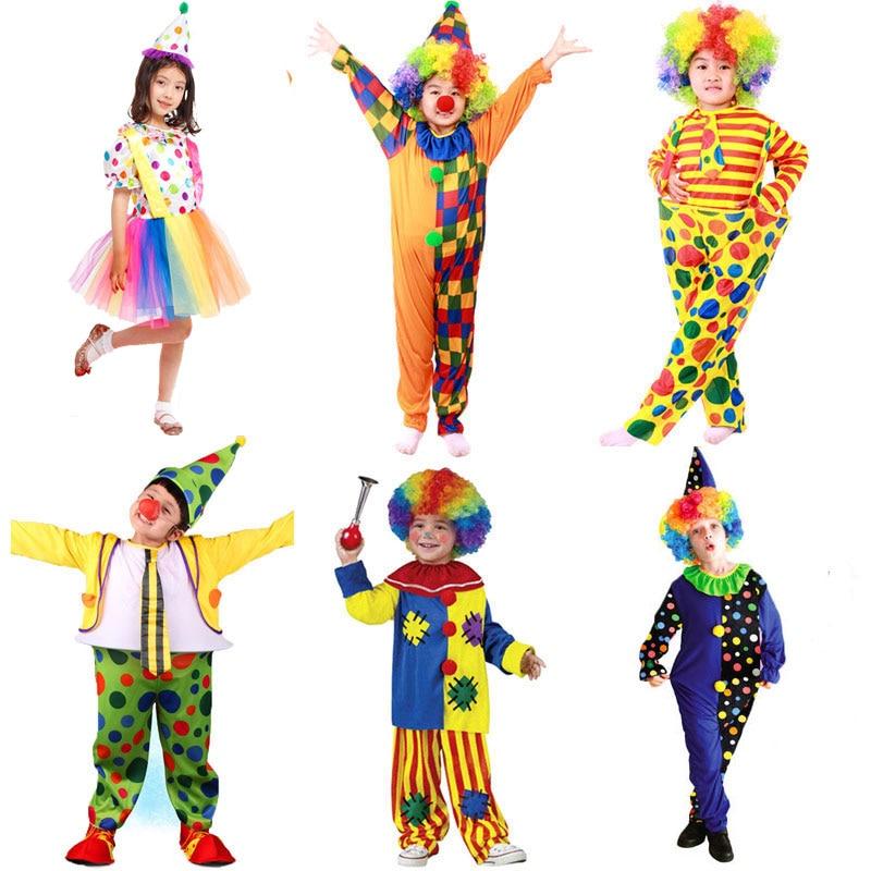 Halloween Costumes Kids Children Circus Clown Costume