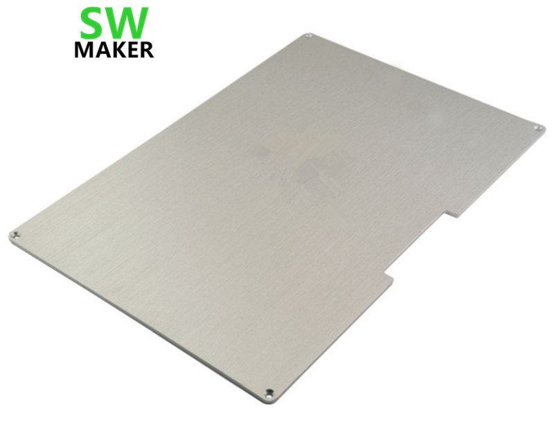 SWMAKER 300x200mm Aluminum Heated Bed Build Plate 3D Printer RepRap Prusa i3 Update Kit prusa i3 update version large size xl aluminum extended 300x200mm y carriage plate for reprap 3d printer