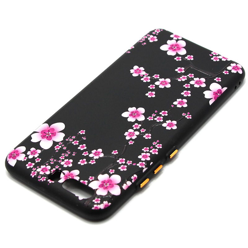 3D Relief flower silicone  case huawei p10 (14)