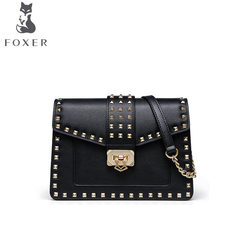 FOXER brand bags for women 2019 new women leather bag Chain luxury handbags bags designer fashion shoulder Rivet locomotive bagFOXER brand bags for women 2019 new women leather bag Chain luxury handbags bags designer fashion shoulder Rivet locomotive bag