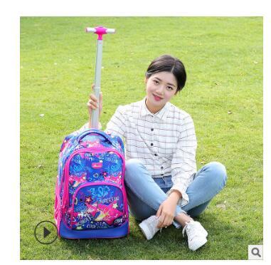 Bolsas de mochilas para adolescentes bolsa de mochila con ruedas de 18 pulgadas para mochila escolar con ruedas de equipaje para niños-in Carteras escolares from Maletas y bolsas    2