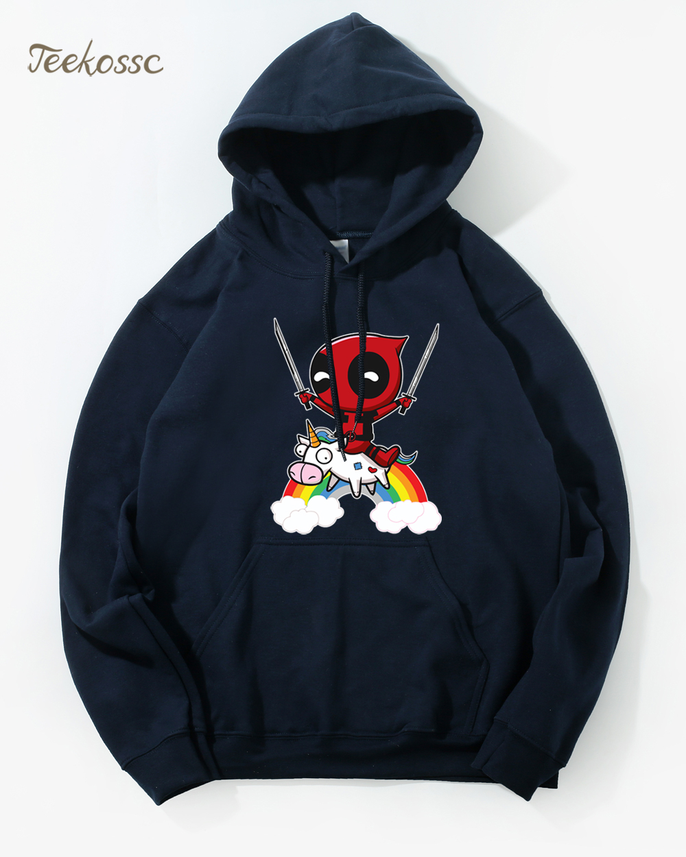 Deadpool  Hoodie Men Super Hero Funny Hoodies Mens 2018 Winter Autumn Deal Pool Hooded Sweatshirt Black Loose Fit Hoody