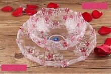 Большой стекло фрукты моды творческие вазу с фруктами Европейский гостиная фрукты сердце семена дыни плиты