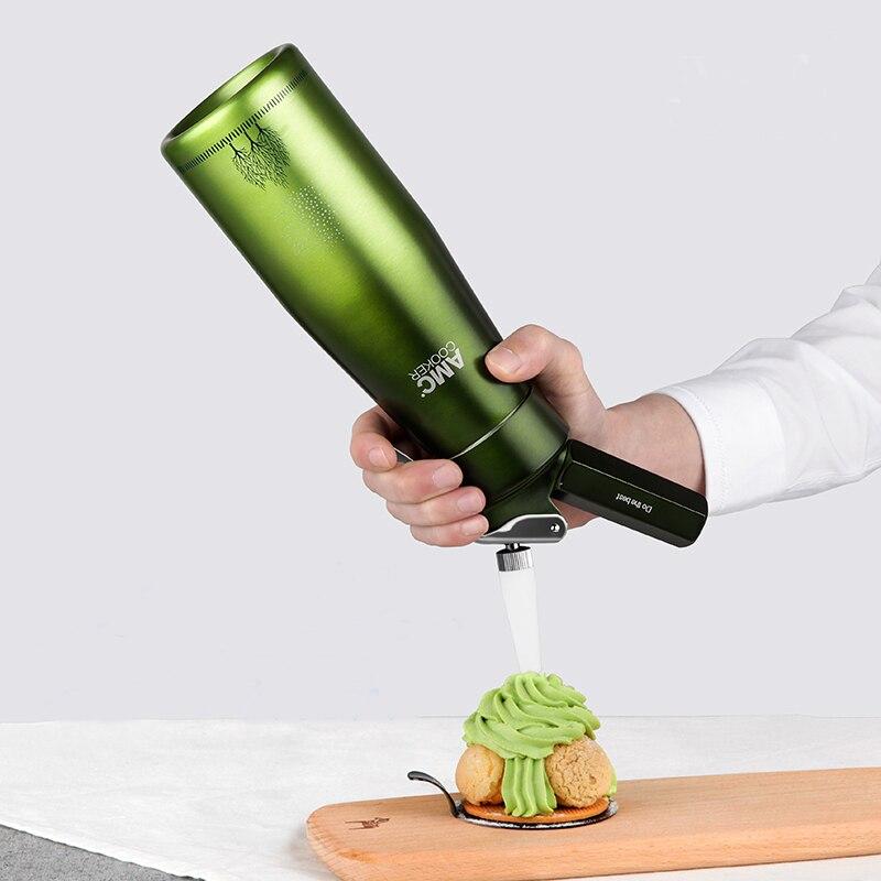 1 set 500ml Cream Whipper foamer Gun Butter Dispenser Coffee Dessert Cake Essential DIY bake Tools High grade aluminum LIXYMO