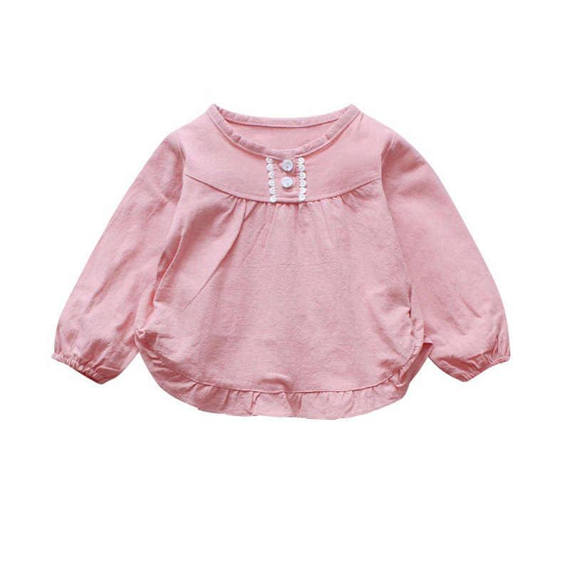61bd0b1cf Bebé niño niñas Blusa de manga larga de otoño camisas para niña ropa para  niños princesa niños chica superior