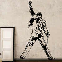 Vintage Freddie Mercury Queen Band Music Rock Vinyl Stickers Wallpaper For Room Decoration Bedroom Livingroom Wall Decor