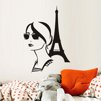 Torre Eiffel Diy Adesivo Fashion Girl Viaggia Adesivi In Vinile Paris Art Design Murales Romantico Francia Home Decor Muursticker
