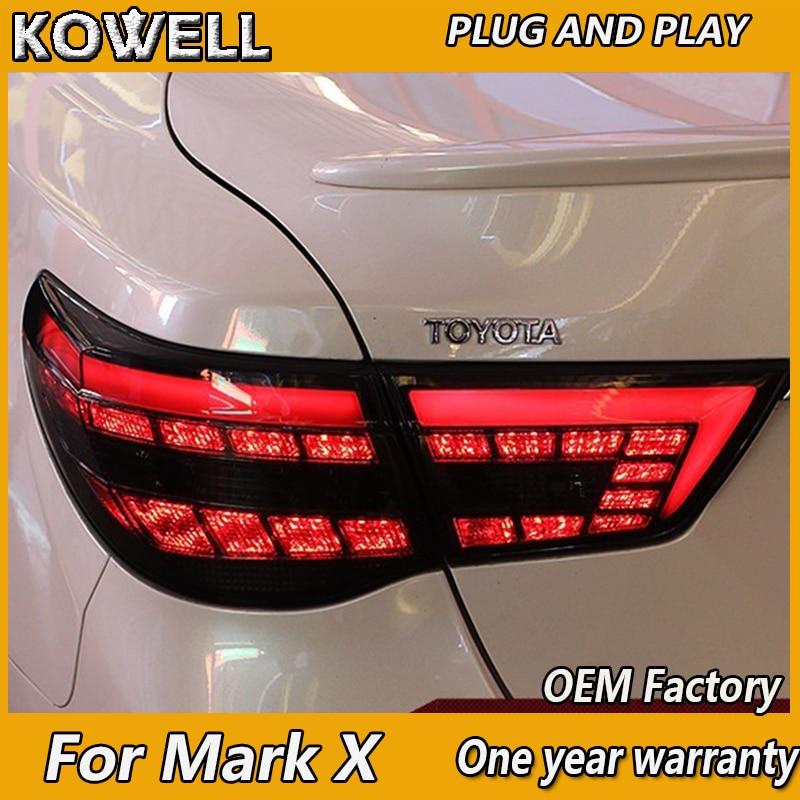 KOWELL Car Styling for Toyota Reiz Mark X LEDTail Lights 2010 2011 2012 Mark X LED Tail Light Rear Lamp DRL+Brake+Park+Signal toyota camry