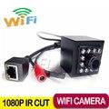 1080 P мини Ip камера аудио 10 шт. 940nm из светодиодов сетевой безопасности камеры ночного видения 1920 x 1080 P мини Ip камера wi-fi крытый беспроводной