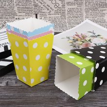6Pcs/lot Pot Pattern Folding Candy Popcorn Boxes Birthday Party Wedding Snack Favor Paper Bags Gift Box