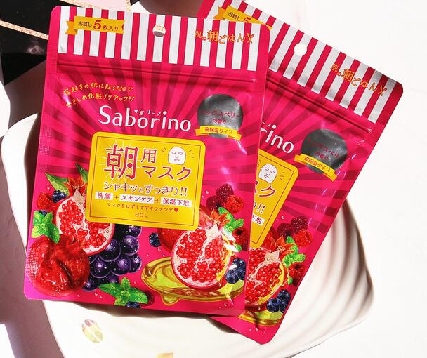 BCL Japan Saborino Morning Care 3-in-1 Face Mask (5 sheets/49ml) mixed berries spc snail secretion face mask value pack 50 sheets