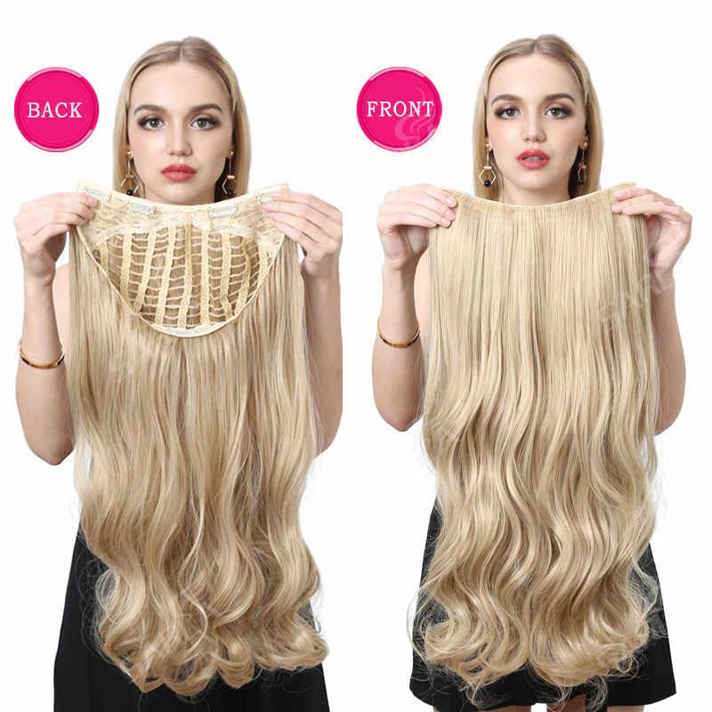 "SARLA 22 ""طويل مجعد U جزء نصف باروكة ل شعر أسود شعر مستعار اصطناعي دبابيس داخل وصلات الشعر المستعار كوشير الأوروبي الباروكات UW012"