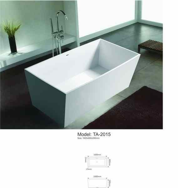 freestanding square bathtub size-in Bathtubs & Whirlpools from Home ...