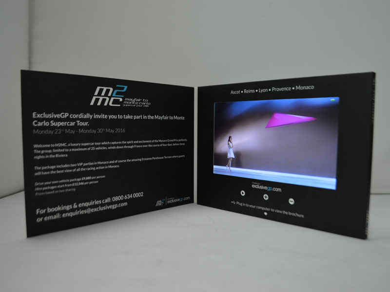 5 inch digital screen lcd video player greeting card video brochure paper card used for pary