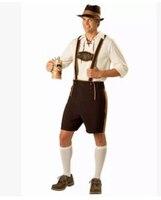 Oktoberfest holiday Costume Lederhosen Bavarian Octoberfest German Festival Beer Halloween Costumes for Men Plus Size 2XL