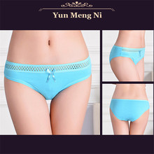 New Hot Cotton with Lace Side best quality Underwear Women sexy panties Casual Intimates female Briefs Cute Lingerie N857