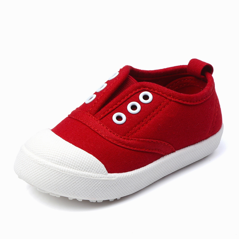 2017 Autumn Fashion Children Shoes Girls Boys Casual Shoes Candy Color Toddler Boys Canvas Shoes Girls Sport Shoes Kids Sneakers