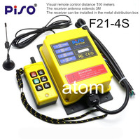 6 Channels Industrial wireless remote control F21 4S Y crane switch single speed high speed Long distance 500 meter lift