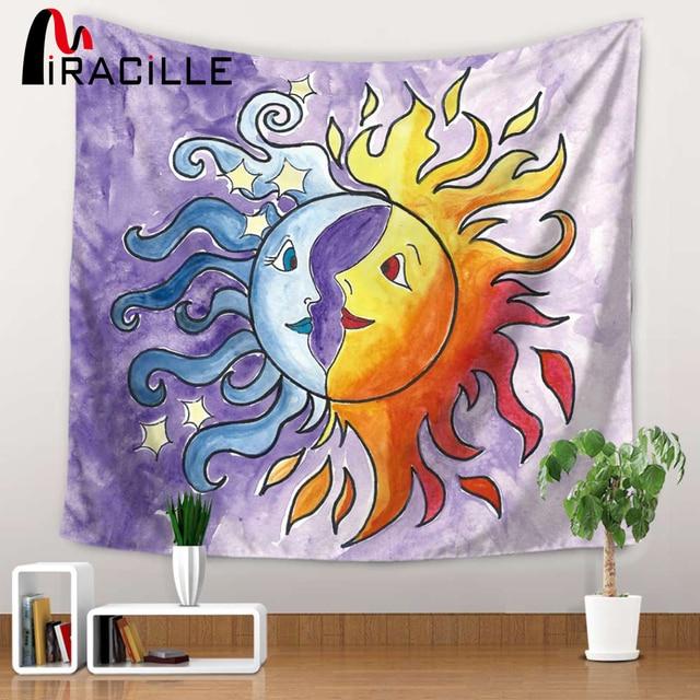Aliexpress.com : Buy Miracille Abstract Sun and Moon Mandala Wall ...