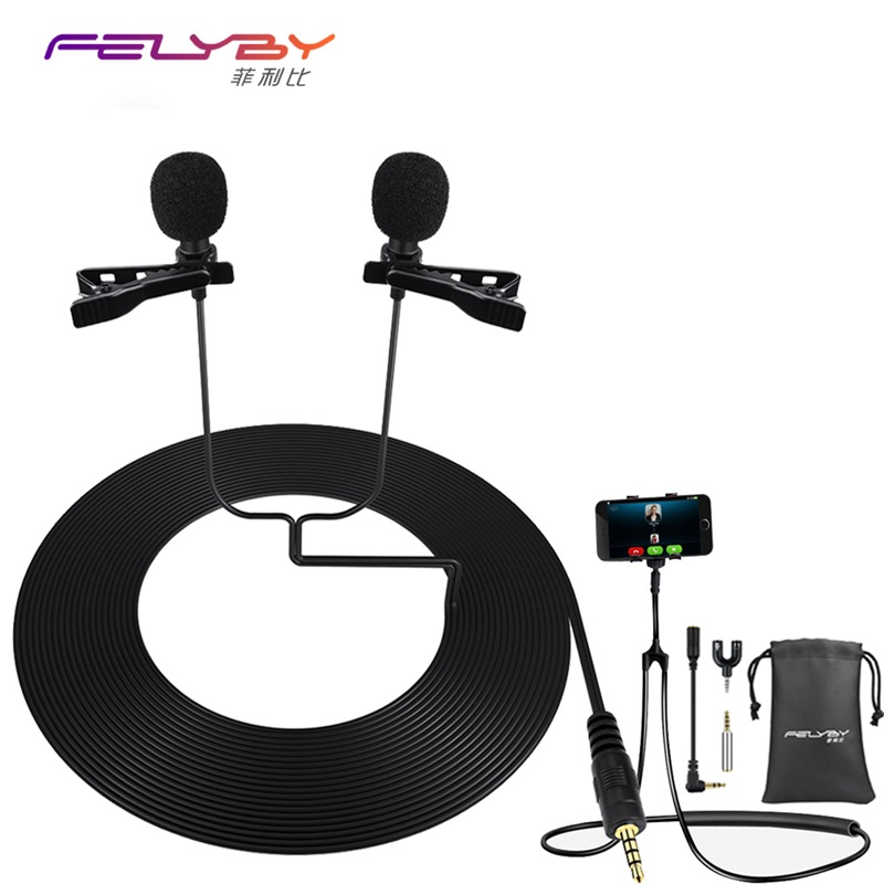 Professional mini microphone clip mikrofon lavalier microphone for recording for mobile computers studio conference microphones