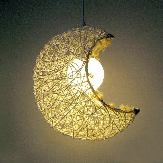 Hot ikea créative minimaliste chambre moderne jardin terrasse escalier hall dentrée lustre nid rotin