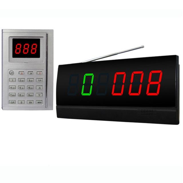 Singcall. chamada cozinha sistema de exibição, cozinha pressione o teclado numérico e a tela irá exibir o número.