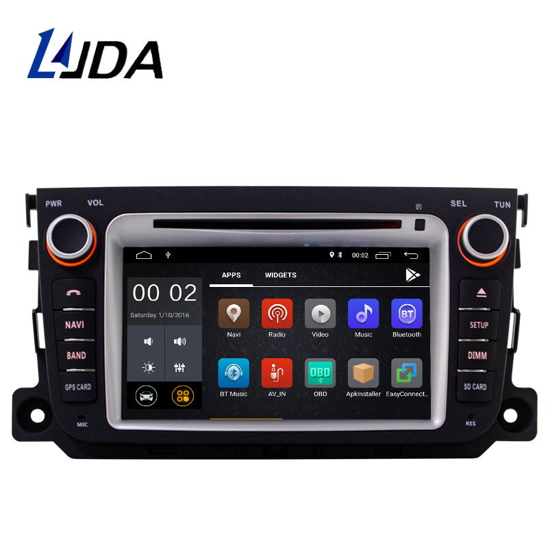 LJDA Android 8.1 Car DVD Player For Mercedes Benz Smart 2010 2011 2012 2013 2014 Car Multimedia Player GPS 2 Din Radio StereoLJDA Android 8.1 Car DVD Player For Mercedes Benz Smart 2010 2011 2012 2013 2014 Car Multimedia Player GPS 2 Din Radio Stereo
