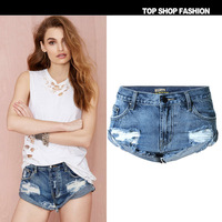 New European wind station cowboy decadent Couture loose elastic curling shorts worn