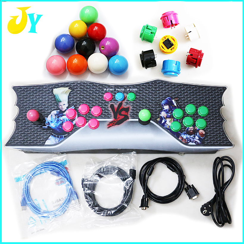 645 in 1 TV Jamma Arcade Game Console with Pandora Box 4 & Heros 3 Games Kit with Joystick Button HDMI and VGA Output