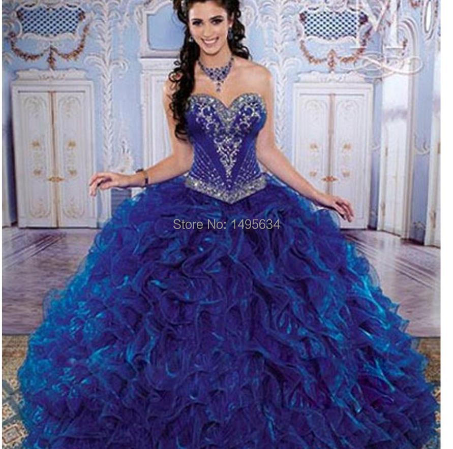 royal blue wedding dresses free shipping 2014 fashion dress honey royal 7161