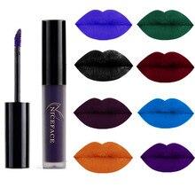 Жидкая губная помада, 9 цветов, водостойкая, стойкая, косметическая, черная, синяя, фиолетовая, зеленая, матовая, макияж, блеск для губ, макияж, Обнаженная губная помада