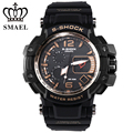 SMAEL Sport Watches Gold Big Dial Men's Wrist Watches Digital Male Clock LED Analog Digital-watch relogios masculino Gift WS1509