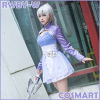 Customize Crown Anime RWBY S4 WHITE Figure Weiss Schnee Short Uniform Halloween Cosplay Costumes For