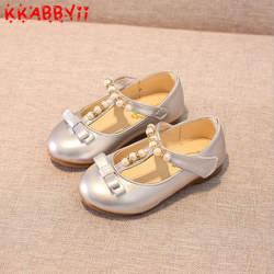 KKABBYII осень 2018 г. для маленьких девочек Мода Мэри Джейн детей из искусственной кожи на плоской подошве малышей вечерние туфли принцесс