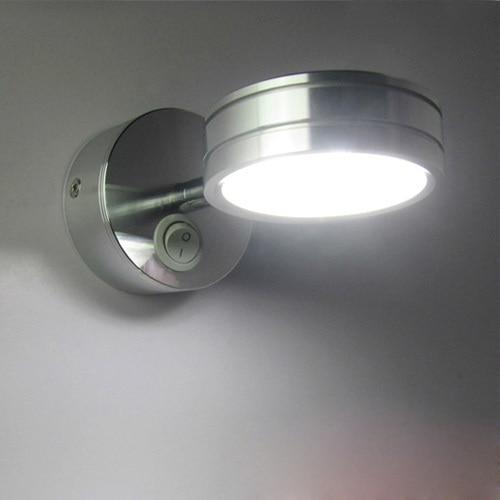 Modern Simplicity LED Wall Lamps Silver Bedroom Bedside Lamp Children's Reading Corridor Light Direction Adjustable AC 90-260V