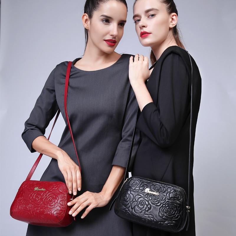 Modes dabīgā ādas soma ZOOLER sieviešu kurjera soma Maza luksusa krustveida soma, plecu somas # 2355