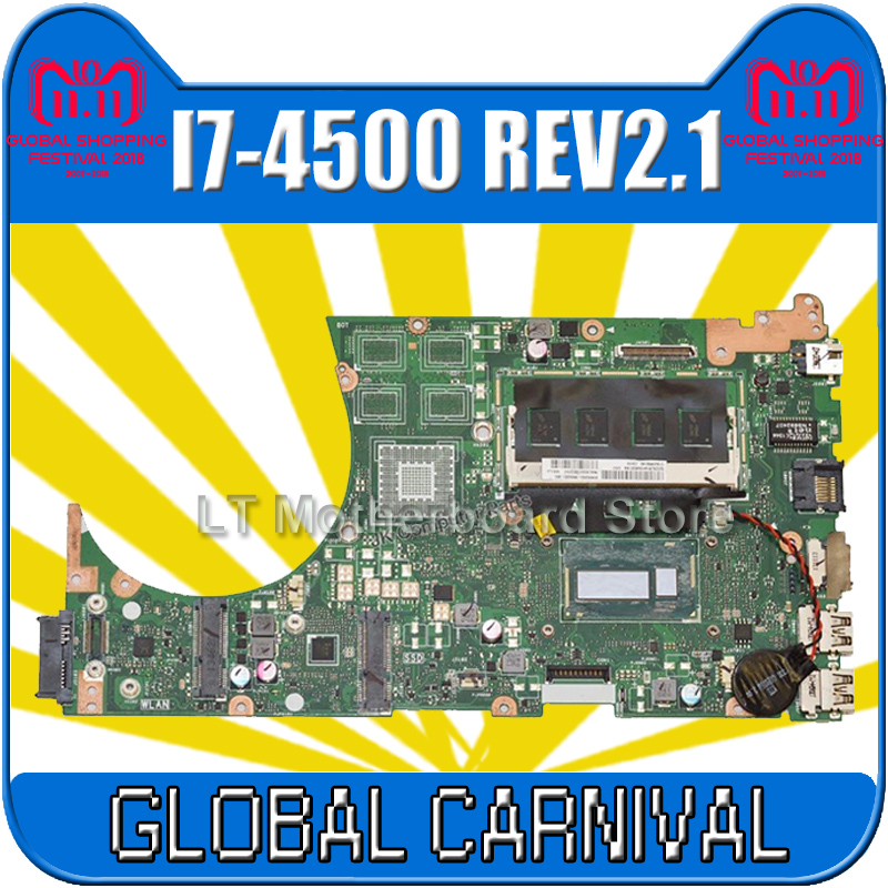 S551LA Motherboard REV2.0 i7-4500 For ASUS K551L K551LA S551 S551L S551lB Laptop motherboard S551LA Mainboard S551LA Motherboard for asus s551lb s551ln s551la r553l mainboard motherboard non integrated gt840m 2gb n15s gt s a2 with i7 4500 cpu sr16z tested