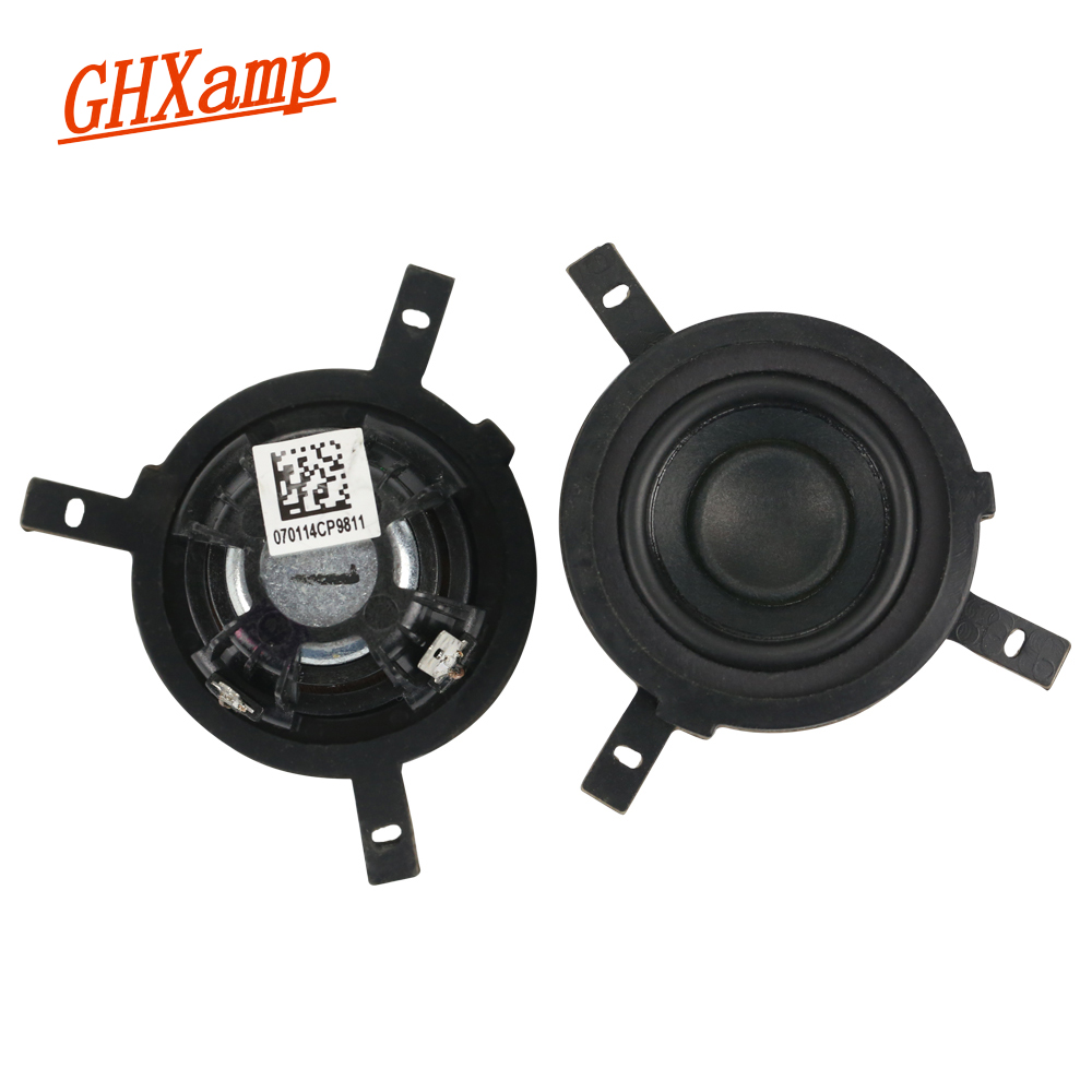 Ghxamp 1.5 Inch 4ohm 5w Full Range Speaker Neodymium Magnets For Peerless Speaker Diy 2pcs Warm And Windproof Portable Speakers