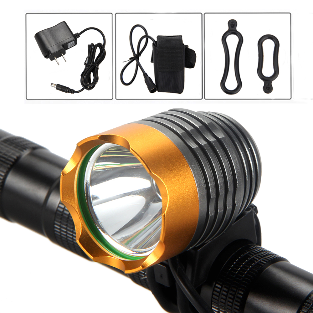 Bright Led Bicycle Light 2500lm XM-T6 LED Bike Light Torch Head front Light +4x18650 Battery Lamp Set cree xm l t6 bicycle light 6000lumens bike light 7modes torch zoomable led flashlight 18650 battery charger bicycle clip