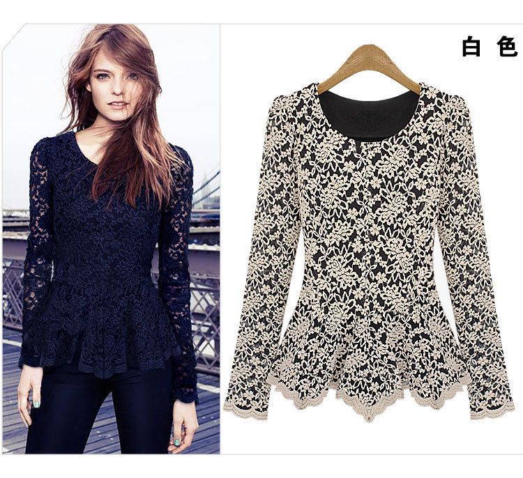 53f85f7380d Hot Selling New Stylish Fashion 2014 Autumn Winter Vintage Women Lace  Transparent Ladies Sexy Tops Dress For Woman Free Shipping